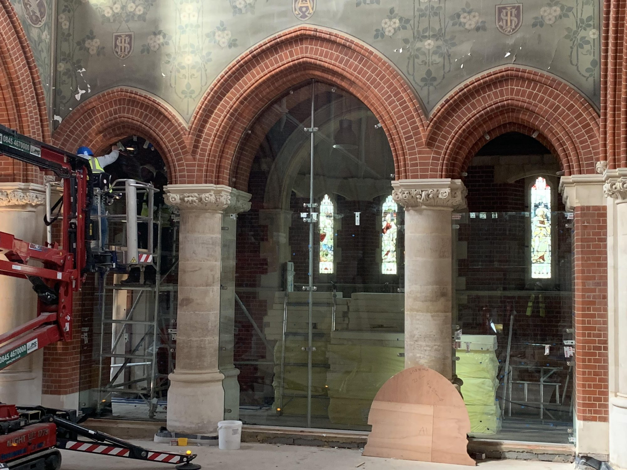 Church toughened glass walls in slough