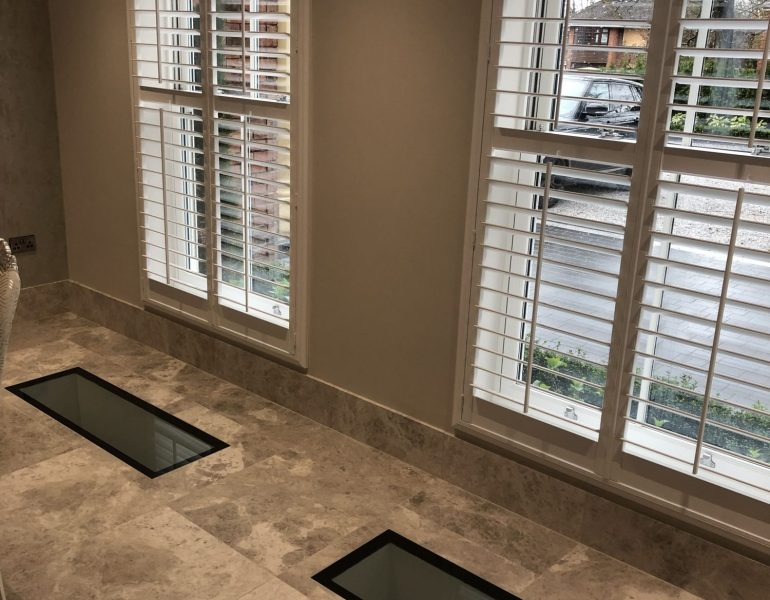 double walkon glass in home