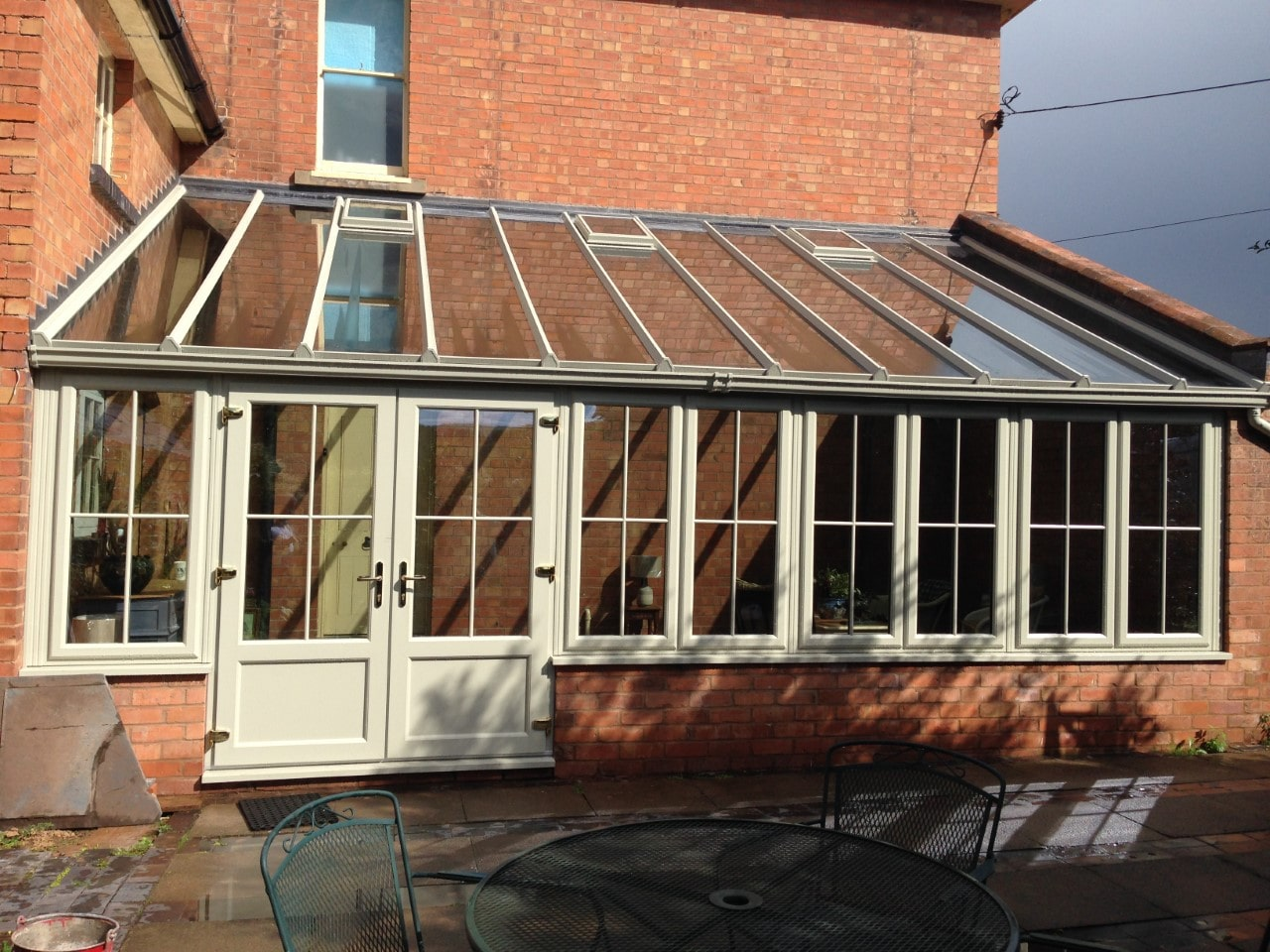 oversized conservatory glass roof panels