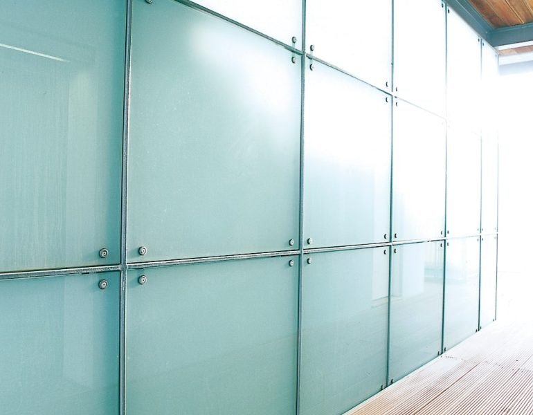screen-printed office glass partitions