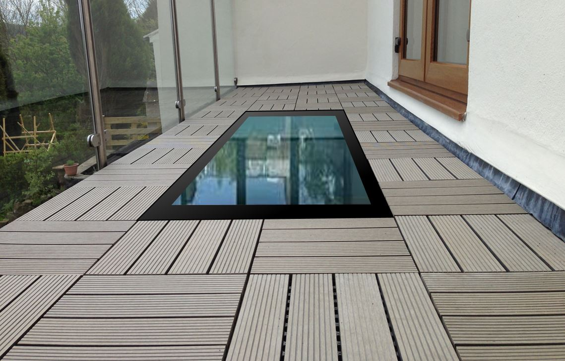 walkon heated thermal glass on a balcony